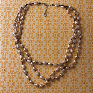 Jewelry - Vintage layered pink pearl necklace